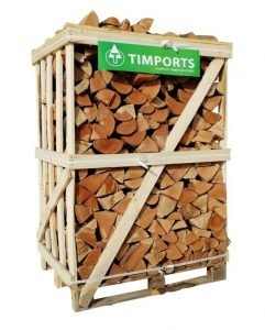 1.6m Crate Of Beech Logs Stacked
